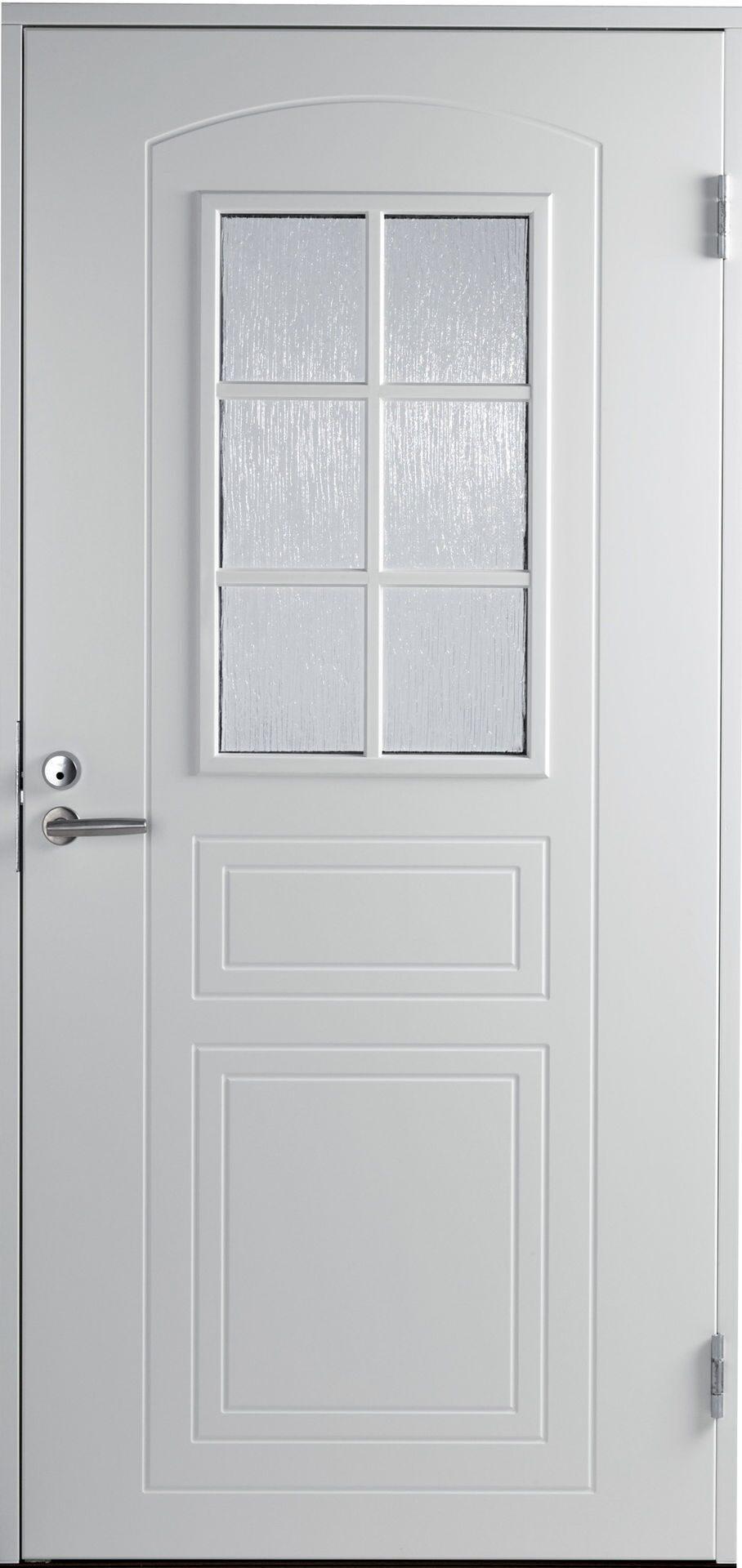 входная уличная дверь белая